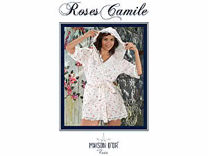 Купить халат Maison d'Or Roses Camile женский с капюшоном