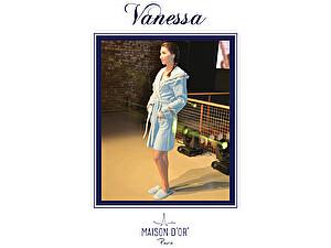 Купить халат Maison d'Or Vanessa женский с капюшоном с тапками
