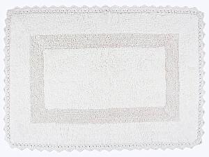 Купить коврик Arya Lupen, белый с гипюром