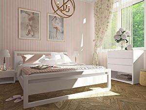 Купить кровать Орма - Мебель Квебек, белая эмаль 90х190