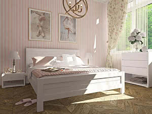 Купить кровать Орма - Мебель Торонто, белая эмаль 140х190