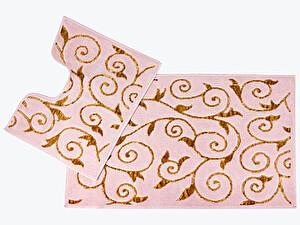 Купить коврик Arya Sarmasik, пудровый/золотой (2 предмета)
