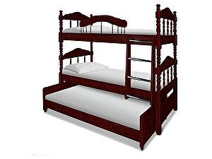 Купить кровать ВМК-Шале Альбион трехъярусная 90х190