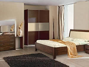 Купить кровать Диамант-М Руно-5 (эмаль/кракле) с подъемным механизмом и ящиком