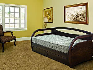 Купить кровать Диамант-М Скай (эмаль/кракле) с ящиками