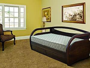 Купить кровать Диамант-М Скай (эмаль/кракле) раскладной