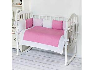 Купить комплект ОТК Горошек-полоска, розовый