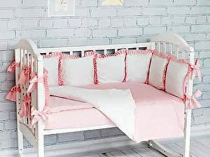 Купить комплект ОТК Розовый, с рюшами