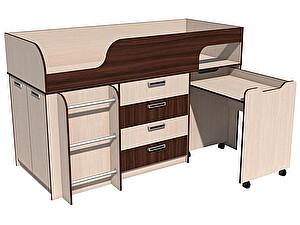Купить кровать Сильва Рико с выкатным столом НМ 011.56.00 (венге магия)