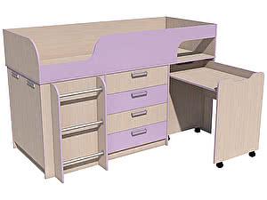 Купить кровать Сильва Рико Модерн с выкатным столом НМ 011.56.00