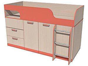 Купить кровать Сильва Рико с поворотным столом НМ 011.55.00 (аква, коралл)