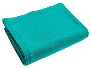 Купить плед Blanc des Vosges Kerala Turquoise