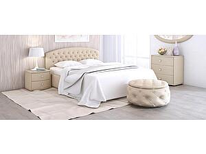Купить кровать Moon Trade Пальмира Модель 380 (рогожка) с основанием