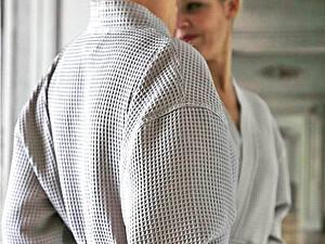 Купить халат Blanc des Vosges Waffle Perle