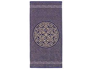 Купить полотенце Leitner Rosetta бежево-фиолетовое