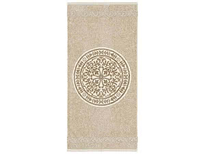 Купить полотенце Leitner Rosetta бежево-сливочное