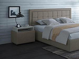 Купить кровать Moon Trade Ноэми Модель 1202 (рогожка) с подъемным механизмом