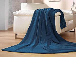 Купить плед Goezze Memphis Premium Uni Marineblau 180х220
