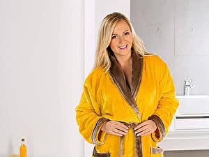 Купить халат Goezze Seiden Feeling Gelb