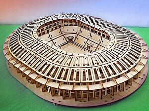 Купить конструктор Uniwood Стадион Лужники 50