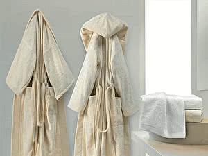 Купить халат Roberto Cavalli Logo с капюшоном, ivory