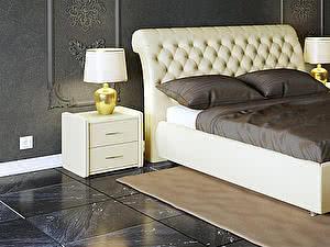 Купить кровать Moon Trade Эрмитаж Модель 587 (экокожа) с основанием