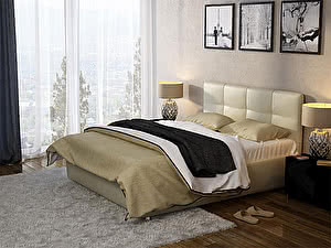 Купить кровать Орма - Мебель Life 1 цвета Люкс (экокожа перламутр) 160х200