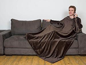 Плед Sleepy Original с рукавами, шоколадный