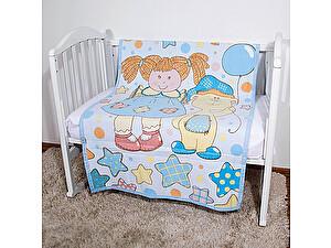 Байковое одеяло ОТК Девочка с мишкой