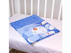 Байковое одеяло ОТК Зайка на луне