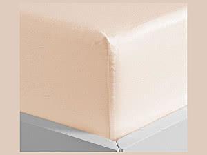 Купить простынь Curt Bauer Uni-Mako-Satin 220х270 см, абрикос
