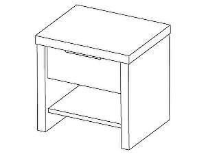 Sale! Тумба прикроватная Эльба-мебель ТК-047