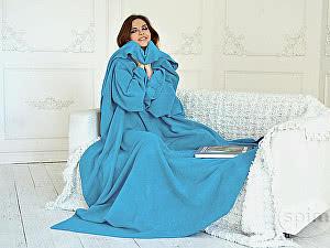 Купить плед Sleepline* голубой с рукавами
