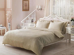 Жаккардовое постельное белье Tivolio Jaquard, бежевое