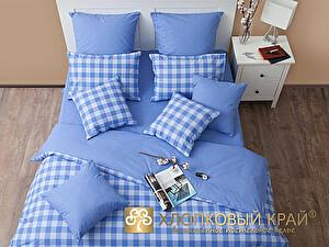 Постельное белье Хлопковый край Дерби, голубой
