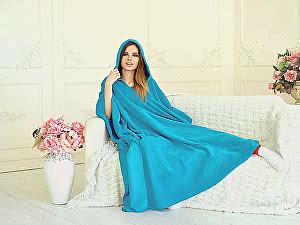 Плед-накидка Sleepline, голубой