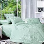 Зеленое постельное белье с кружевом | SPIM.RU - Москва | 8-800-555-60-55