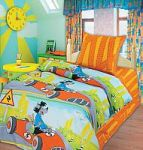 Оранжевое постельное белье Непоседа из бязи | SPIM.RU - Москва | 8-800-555-60-55