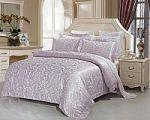 Лиловое постельное белье из жаккарда   SPIM.RU - Москва   8-800-555-60-55