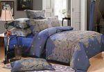 Синее постельное белье из тенселя | SPIM.RU - Москва | 8-800-555-60-55