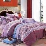 Сиреневое постельное белье в полоску | SPIM.RU - Москва | 8-800-555-60-55