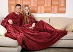 Бордовые пледы с рукавами . Купите плед с рукавами бордового цвета в интернет-магазине! | SPIM.RU - Москва