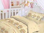 Коричневое постельное белье для новорожденных Праймтекс | SPIM.RU - Москва | 8-800-555-60-55