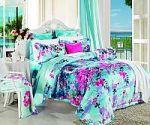 Синее постельное белье из жаккарда | SPIM.RU - Москва | 8-800-555-60-55