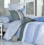 Синее постельное белье в полоску | SPIM.RU - Москва | 8-800-555-60-55