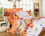 Оранжевое постельное белье с наволочками 70х70 | SPIM.RU - Москва | 8-800-555-60-55