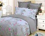 Бирюзовое постельное белье с цветами | SPIM.RU - Москва | 8-800-555-60-55