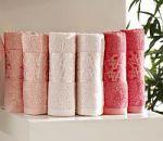 Кремовые жаккардовые полотенца | SPIM.RU - Москва | 8-800-555-60-55