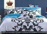 Бирюзовое постельное белье с орнаментом | SPIM.RU - Москва | 8-800-555-60-55