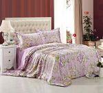 Сиреневое постельное белье из шелка | SPIM.RU - Москва | 8-800-555-60-55